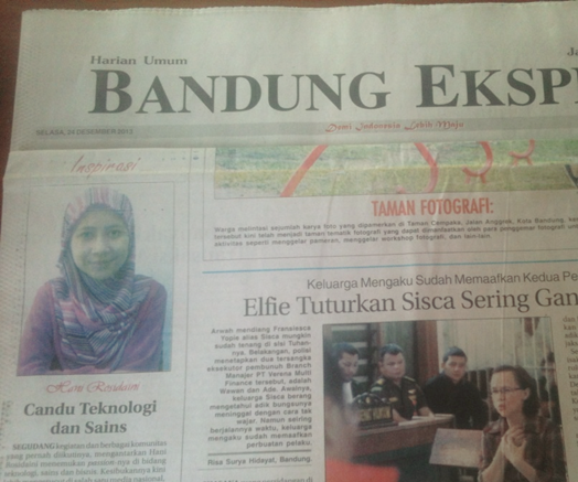 """Inspiration"" column of Bandung Ekspres, Dec 24th, 2013"