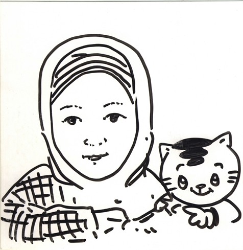 By Kak Andi Yudha Asfandiyar, creator of Mio the cat, Indonesian respectable illustrator who currently living in Brussels, Belgium